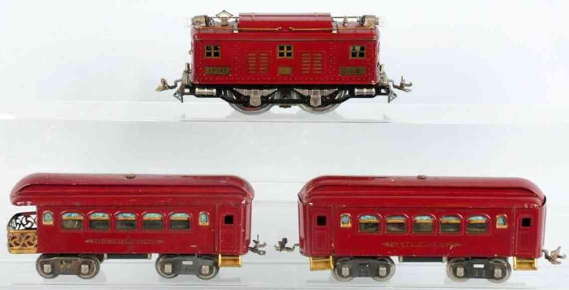 lionel 8 35 36 railway toy train passenger train set standard gauge