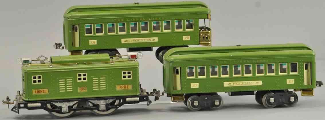 lionel 8e 337 338 spielzeug eisenbahn personenzug rot standard gauge