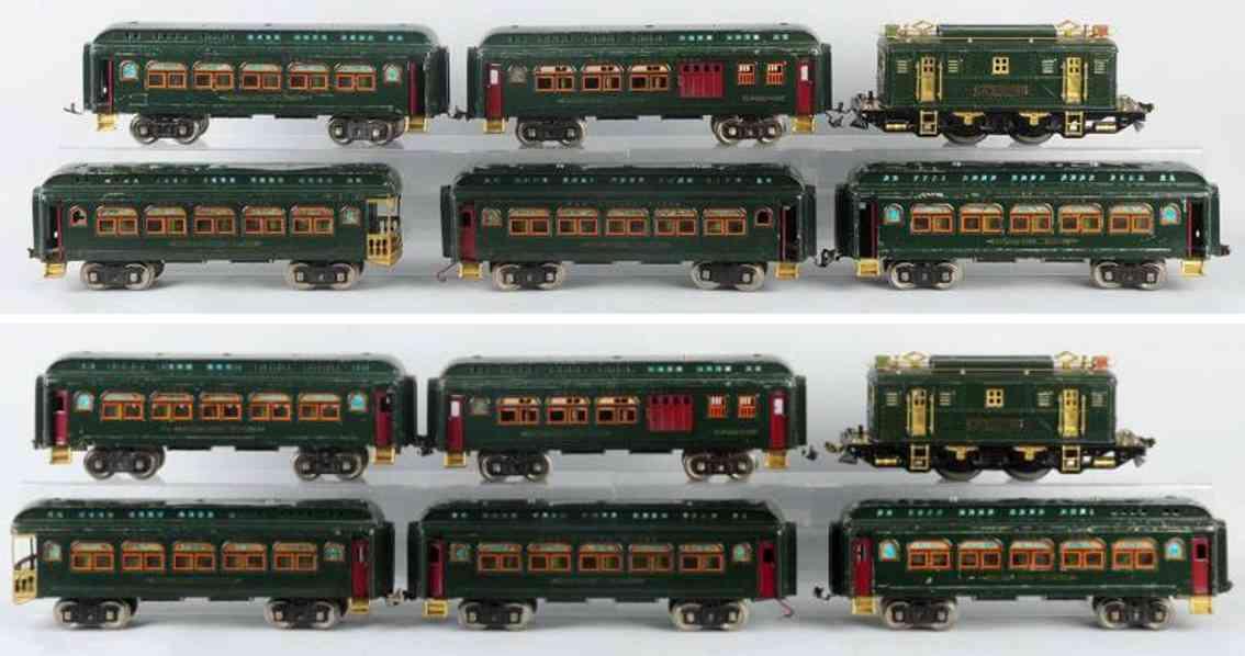 lionel 9 428 429 430 railway toy passenger train set standard gauge