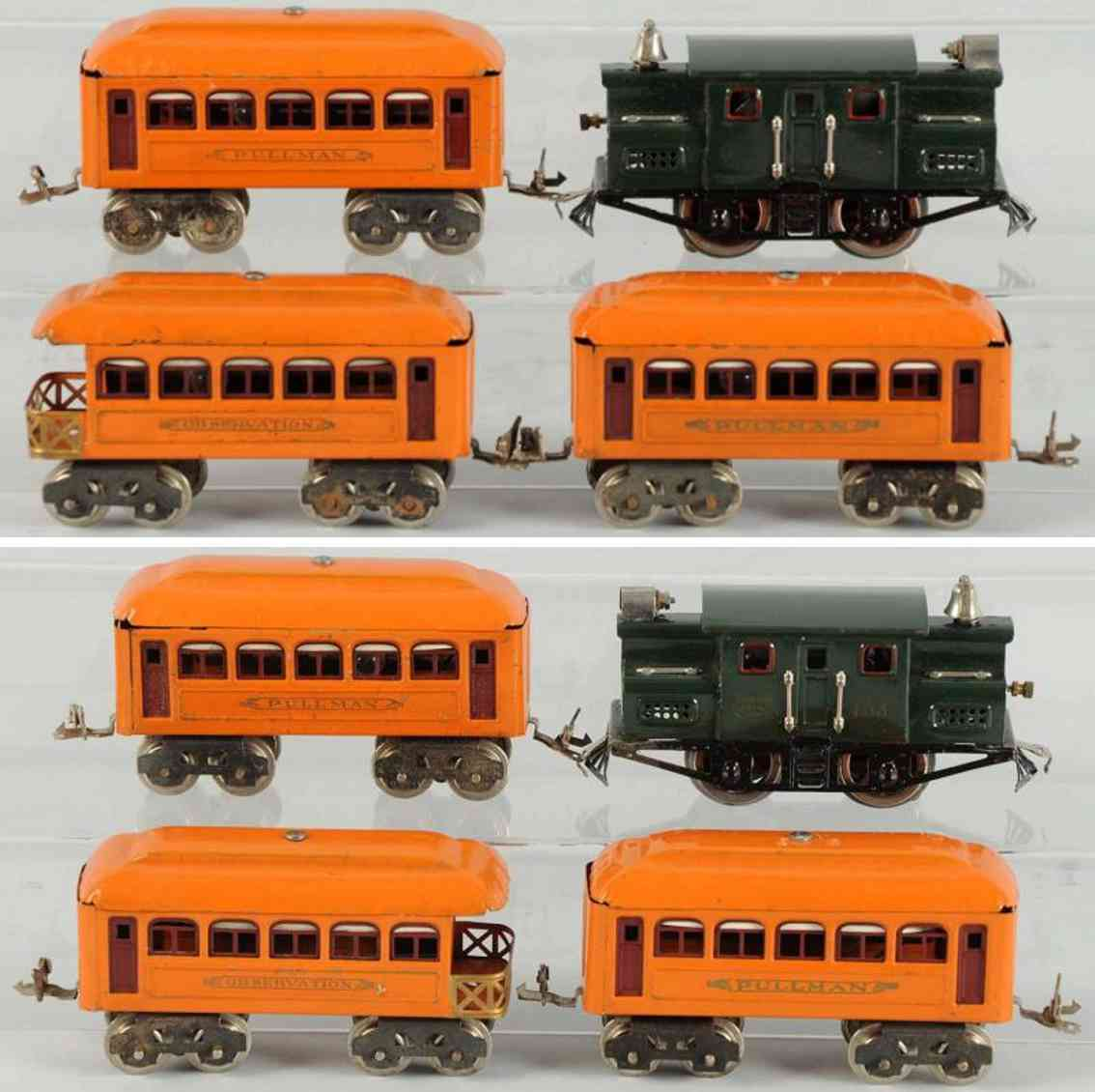 lionel 96 153 603 604 railway toy train passenger train set gauge