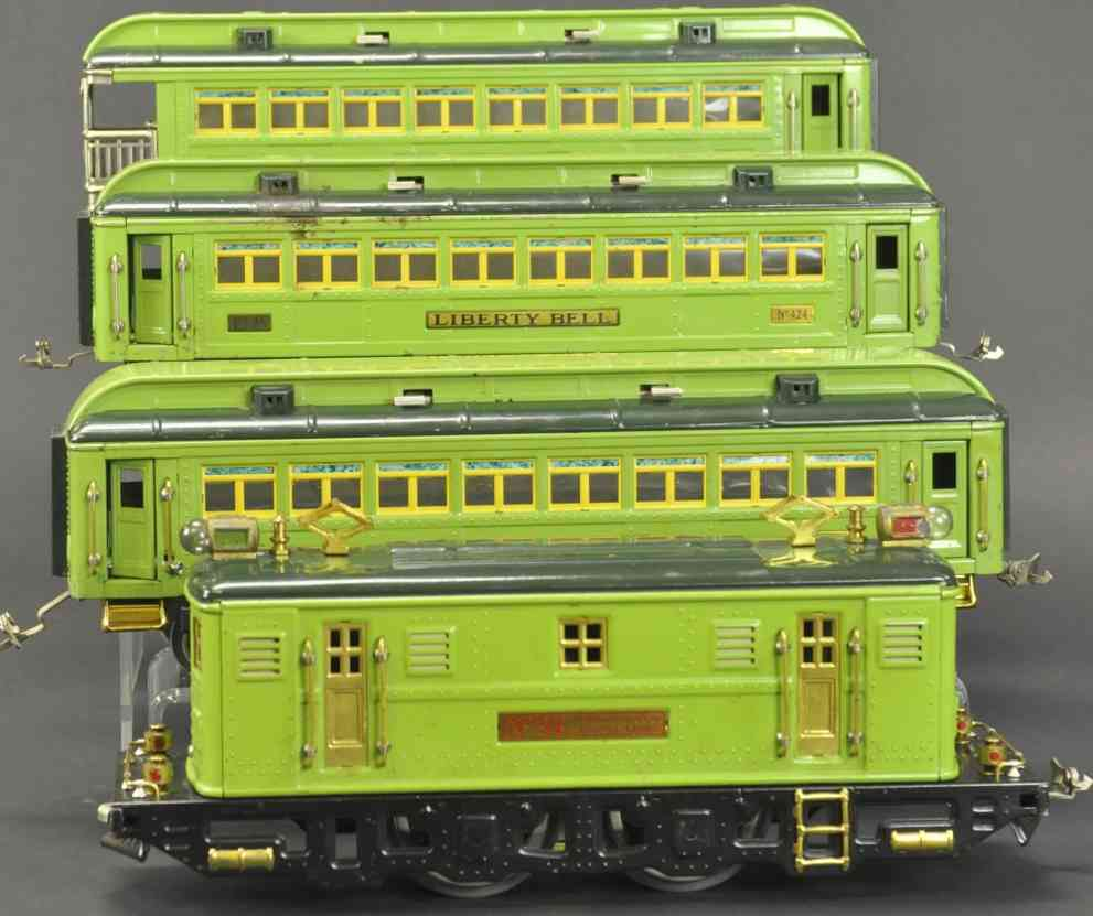 lionel 9e 424 425 426 standard gauge stephen girard personenzug gruen