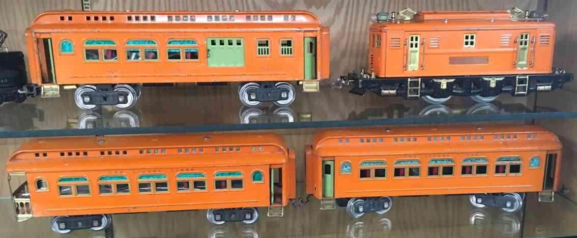 lionel 9e 428 429 430 spielzeug eisenbahn personenzug orange standard gauge