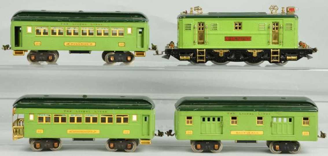 Lionel 9E 309 310 311 Passenger set