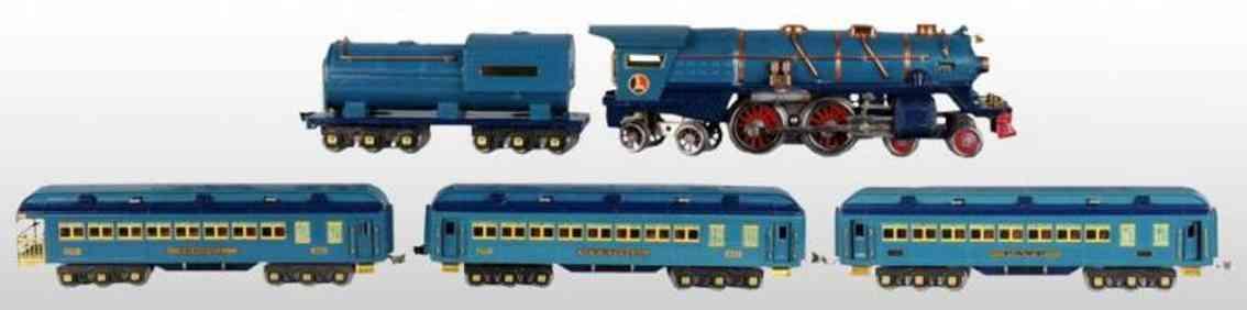 lionel  400e 4004 420 421 422 blue comet passenger set standard gauge
