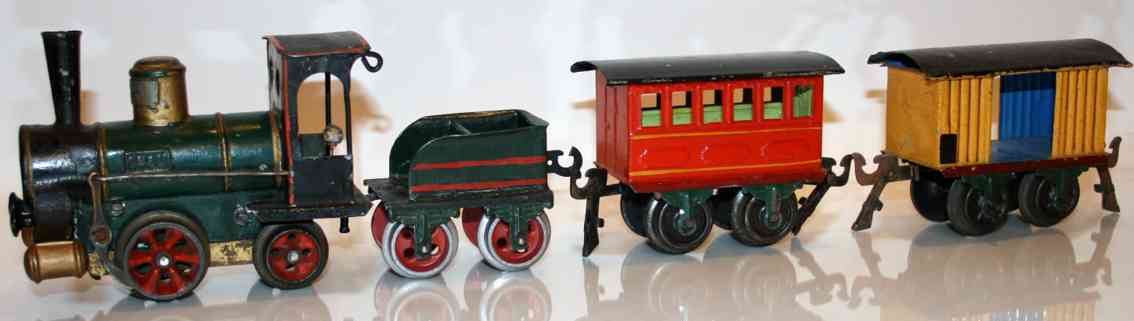 Märklin 1020 B Zug mit Uhrwerklokomotive
