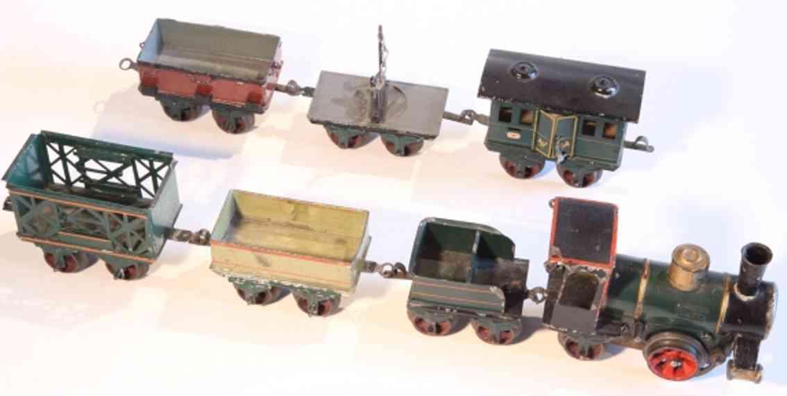 maerklin 1020 B spielzeug eisenbahn zug zug bestehend aus dampflokomotive 1020 b, offener güterwagen