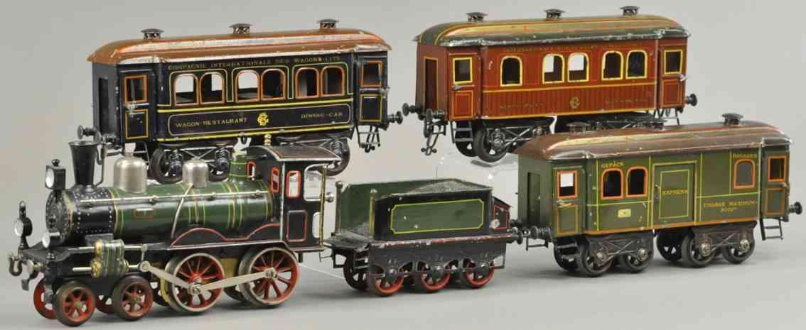 maerklin spielzeug eisenbahn personenzug uhrwerklokomotive spur 1