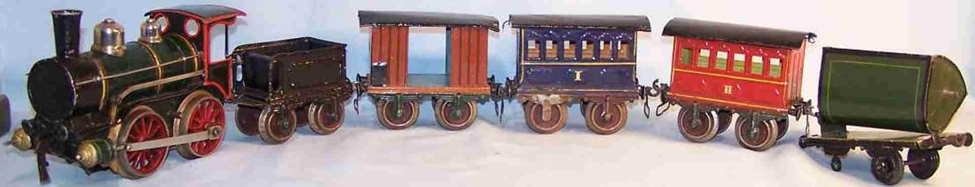 maerklin eisenbahn uhrwerklokomotive mit tender und wagen