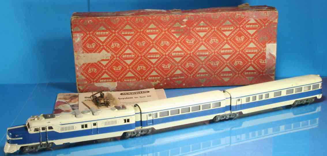 maerklin st 800-2 3017-2 spielzeug eisenbahn schnelltriebzug elfenbein blau spur h0