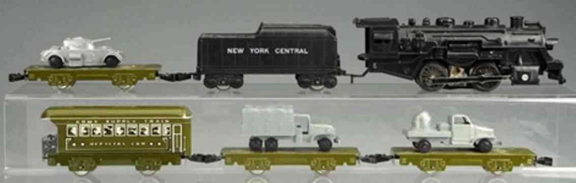 marx louis railway toy streamline electrical army train