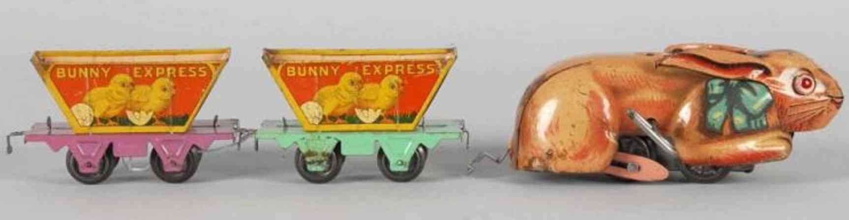 marx louis railway toy bunny express train set