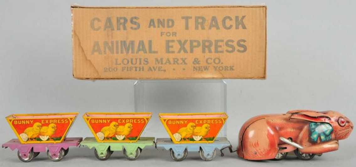 marx louis railway toy train bunny express