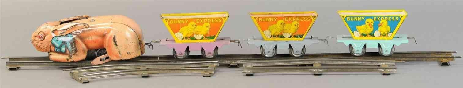 marx louis spielzeug eisenbahn bunny express zugset mit uhrwerk
