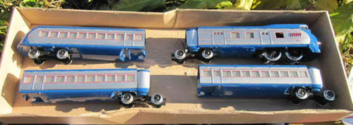 paya spielzeug eisenbahn zug triebwagen mit drei passagierwagen
