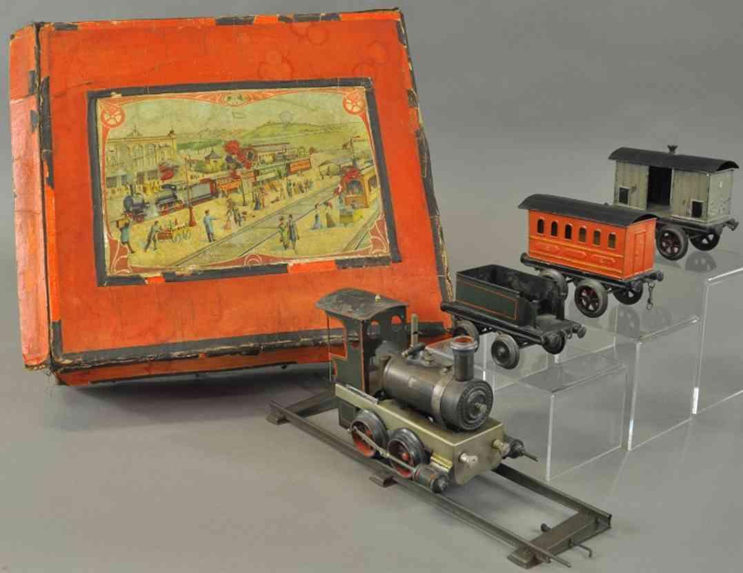 plank ernst zugset vulkan dampflokomotive tender personenwagen gepaeckwagen