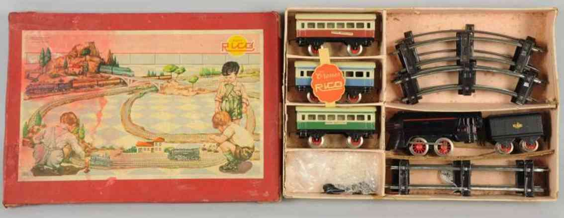 rico 730 railway toy train set gauge 0