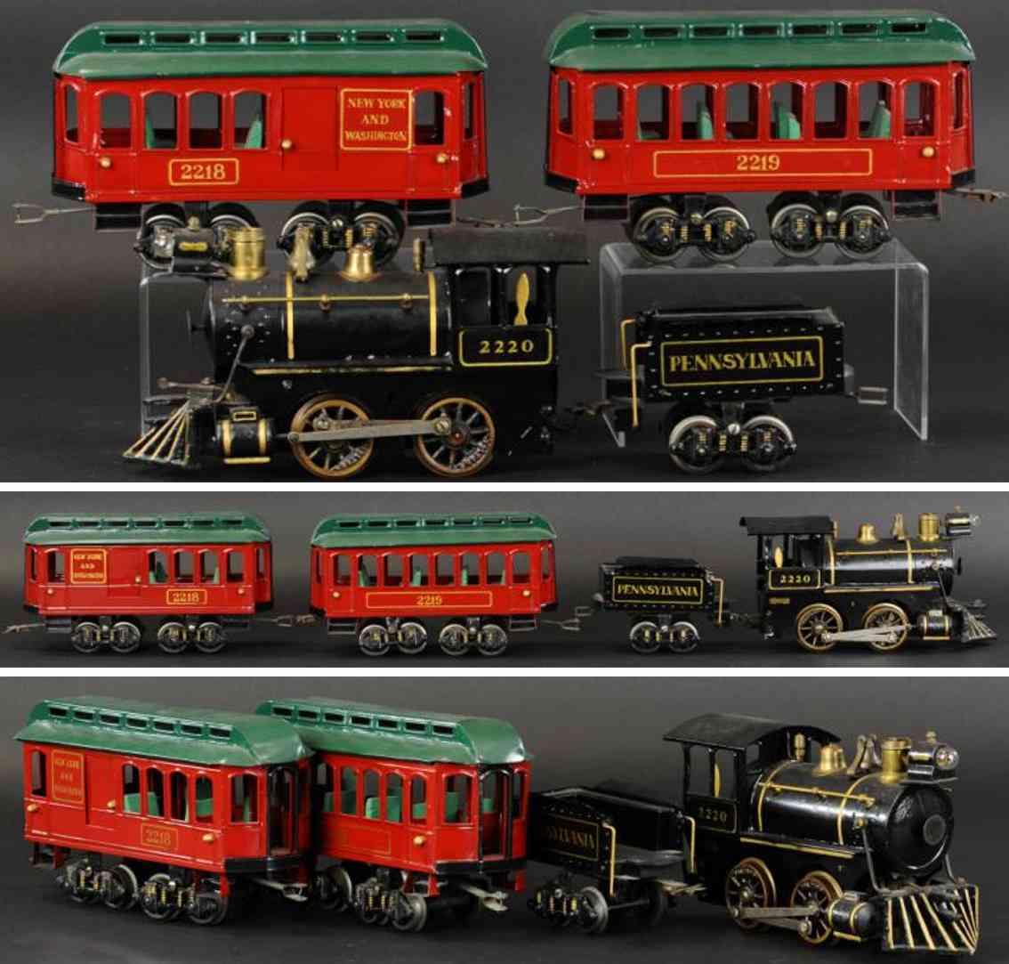 voltamp lok 2200 wagen 2218 2219 personenzug standard gauge