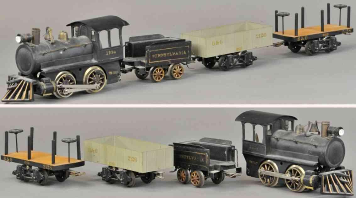 voltamp eisenbahn zug dampflokomotive 2220 wagen 2126 2128 2 inches