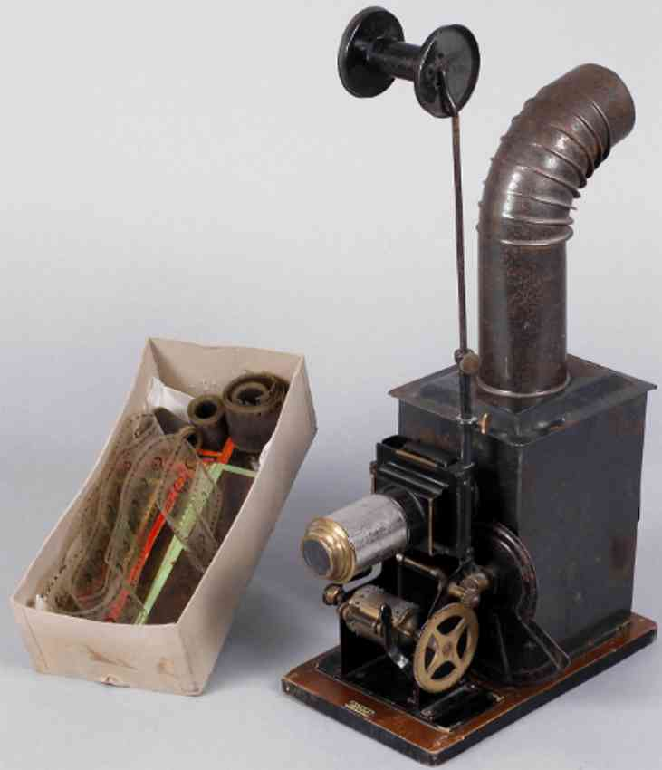 bing tin optical toy cinematograph laterna magica with accessories