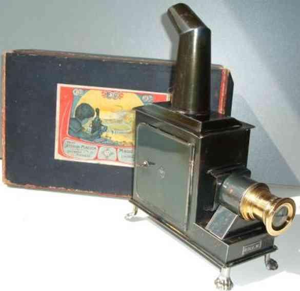 bing blech optisches spielzeug laterna magica mit original-karton und glasbildern, gemarkt