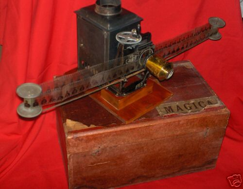 carette blech optisches spielzeug horizontaler kinematoscope in original holzbox