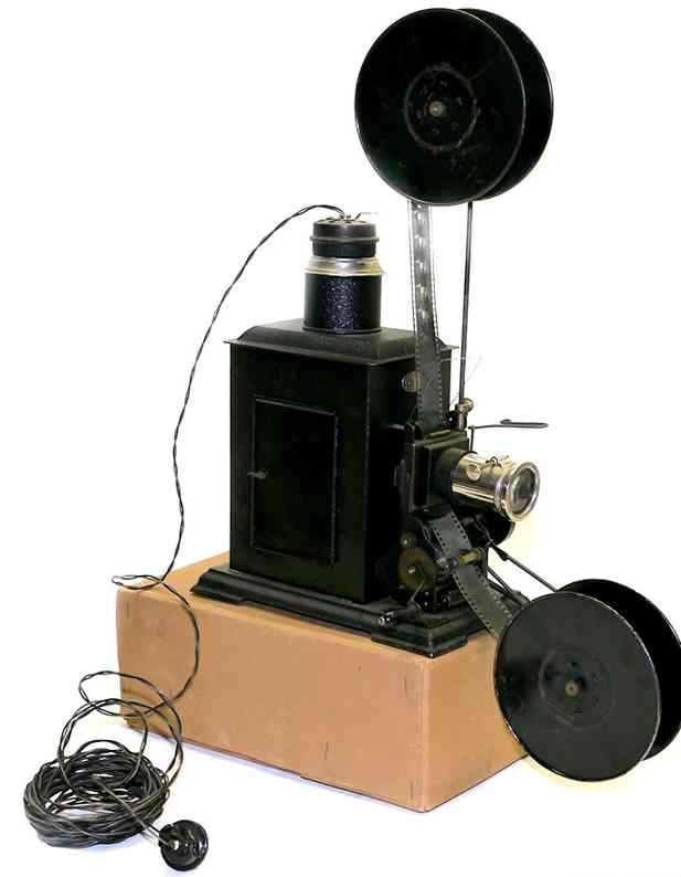 falk tin optical toy motion-picture projector 35 mm with film