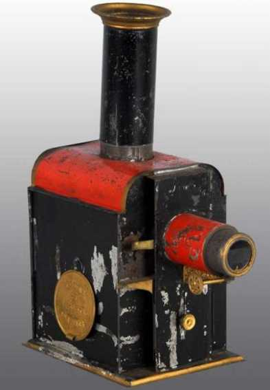 weeden 2 tin optical toy magic lantern, one of three different styles. the lantern ha