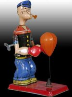 Chein Co. Figuren Popeye als Boxer am Punchingball mit...