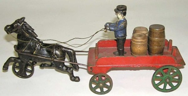 Harris Toy Co Kutschen farm wagon 1 horse