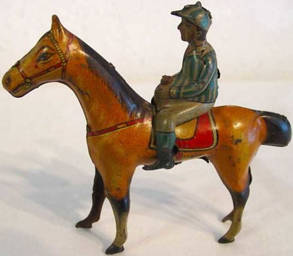 Levy George (Gely) Penny Toy Jockey Pferd 11