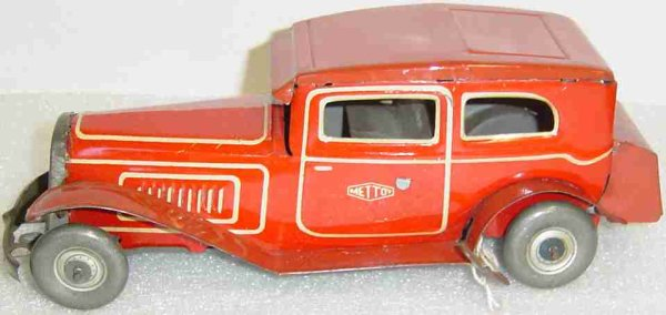 Mettoy Fahrzeuge-Oldtimer Limo red 9,25