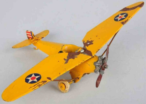 Britains Ltd. Toy Flugzeuge monoplane yellow 9