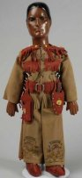 Dollcraft Novelty Co. N.Y. Puppen Charakterpuppe Tonto...