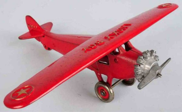 Dent Hardware Co Flugzeuge X6043 Lucky Boy red