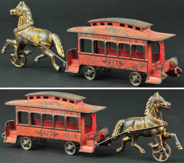Harris Toy Co Kutschen trolley 1 horse 14,5