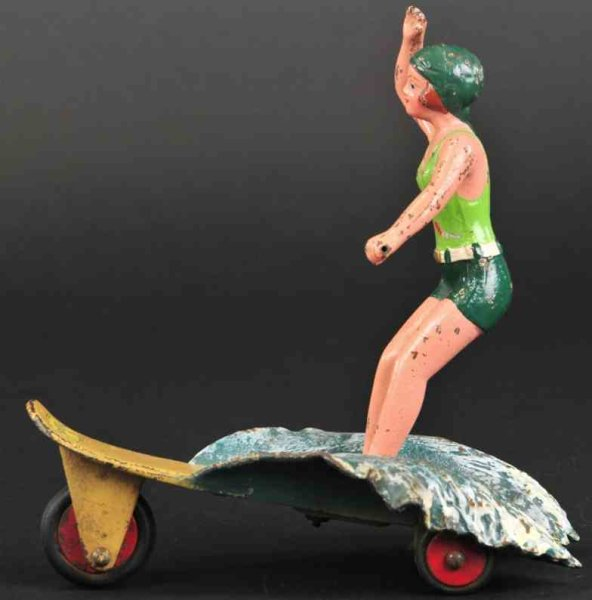 Hubley Figuren Surfer girl 7,5