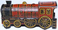 Levy George (Gely) Penny Toy Dampf Lokomotive in Rot und...