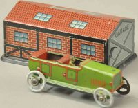 Fischer Georg Penny Toy Garage mit Auto, Tourenwagen in...