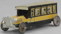 Levy George (Gely) Penny Toy Reisebus in gelb und...