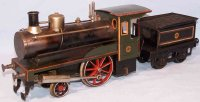 Carette Lokomotiven Dampflokomotive mit Tender, aus...