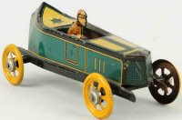 Fischer Georg Penny Toy Rennwagen in Bootsform mit...