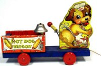 Fisher-Price Figuren Hot dog Wagen #764