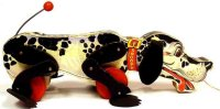 Fisher-Price Tiere Snoopy sniffer #180 Hund aus Holz