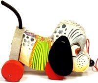 Fisher-Price Tiere Mosey der Welpe #445 aus Holz, Hund...
