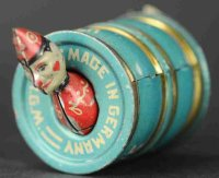 Stock Walter Penny Toy Clown im Fass #150 ein Penny Toy,...