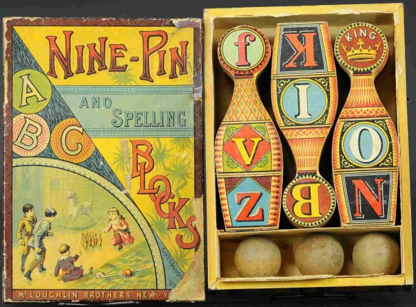 McLoughlin Brothers Figuren Nine pin set